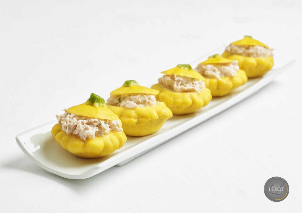 Traiteur Lebot - Pièces cocktail - Pâtisson au rillettes de saumon