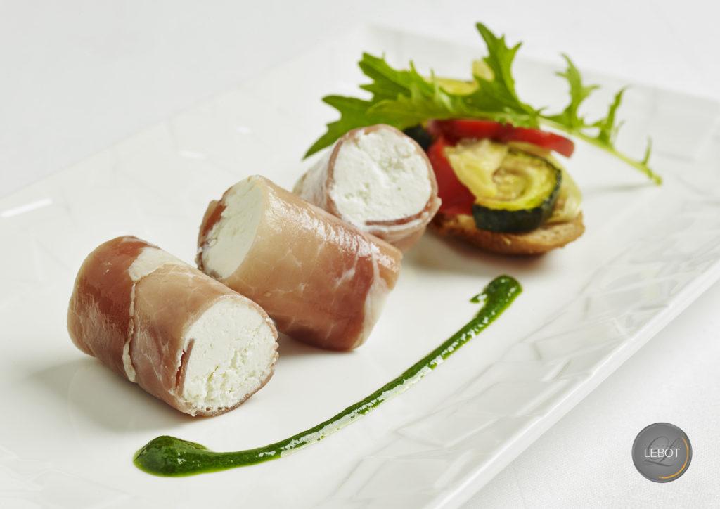 Maki jambon et chèvre - mise en bouche traiteur nantes 44