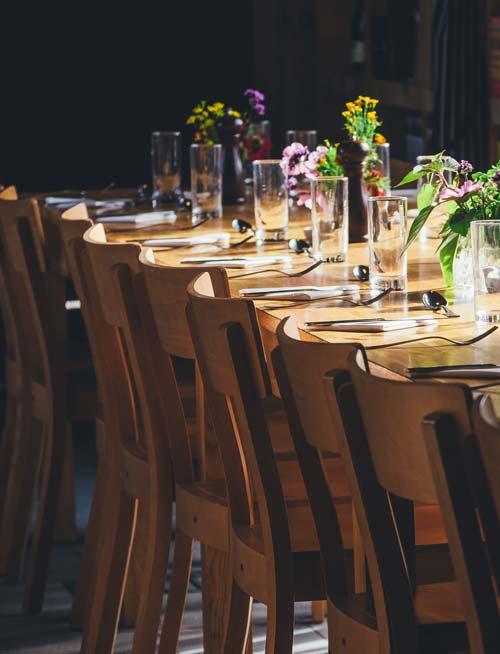 Traiteur Lebot - mariage - repas assis - table - mise en place