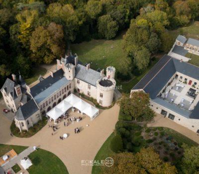 Cour du domaine d'Auvergnac - partenaire - lieu de réception - mariage