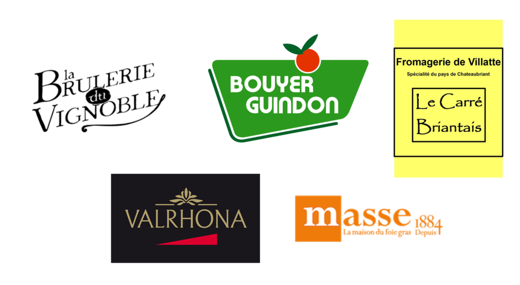 Logo Fournisseurs masse valhrona bouyer guindon fromagerie de villatte la brulerie du vignoble