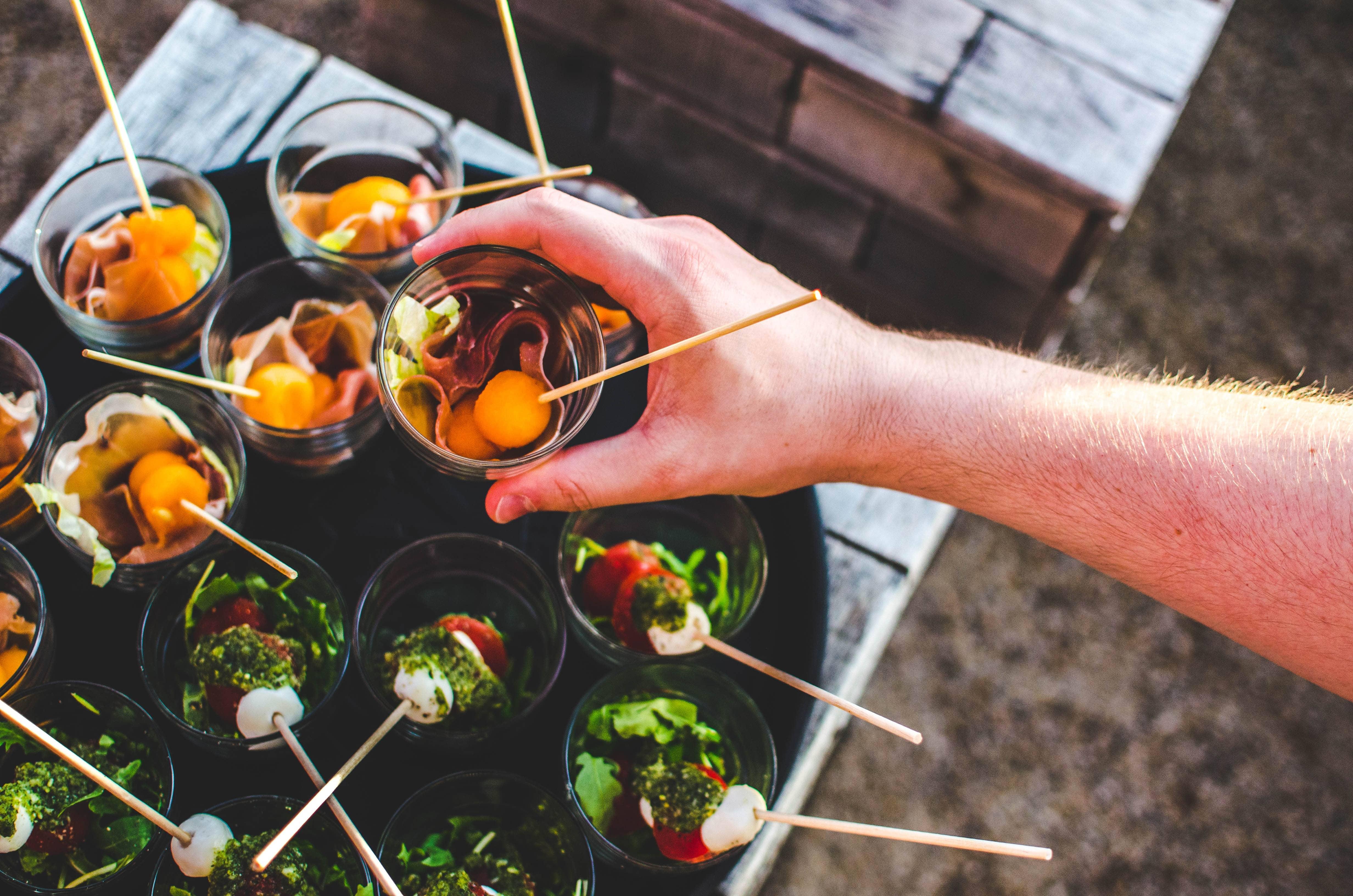 Soleil de légumes pour buffet