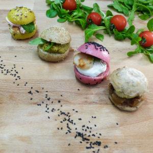 Mini burger pour des plateaux à partager - Traiteur Lebot
