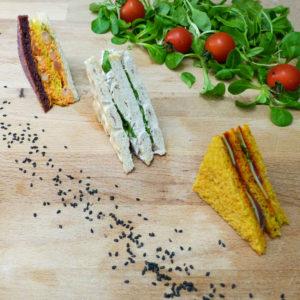 Mini Club Sandwich colorés et savoureux des plateaux à partager du Traiteur Lebot